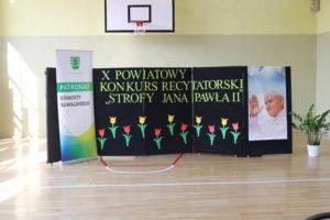 """Konkurs recytatorski """"Strofy Jana Pawła II"""" – 12.04.2018"""